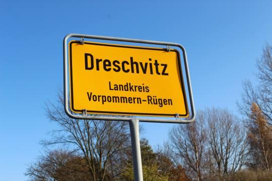 Schild Dreschvitz
